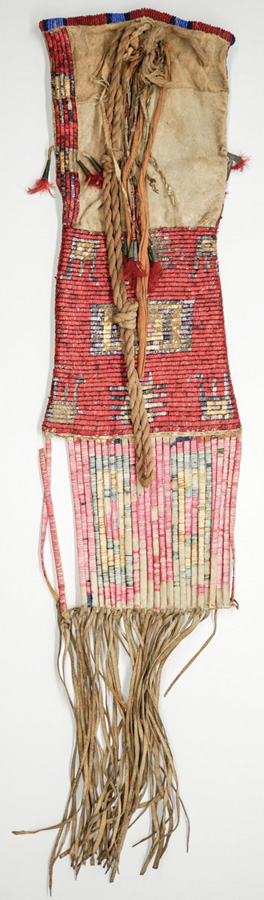 Sioux Native American Quilled Pipe Bag c.1860's