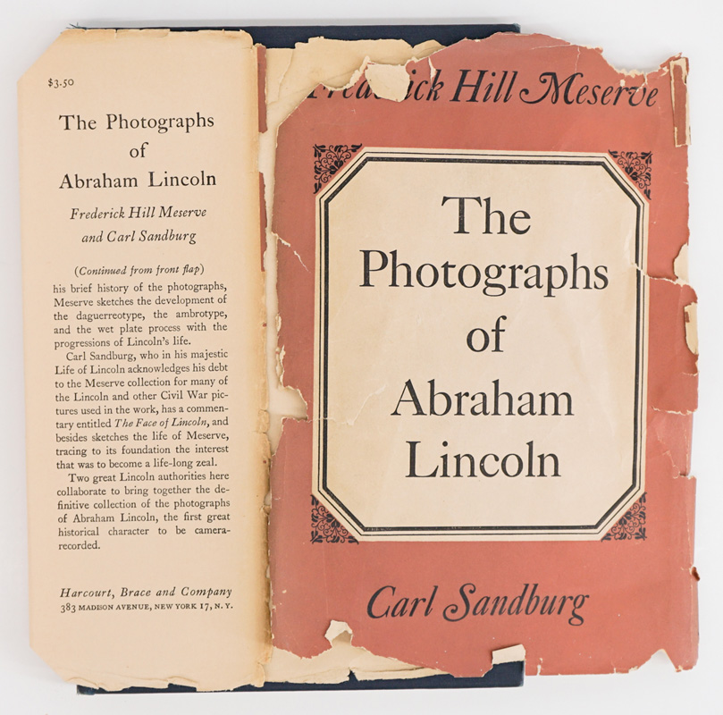 Photographs of Lincoln by Sandburg 1944 SIGNED