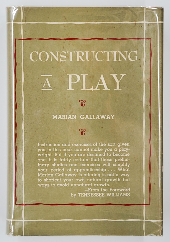 Constructing a Play 1950 Marian Gallaway 1ST