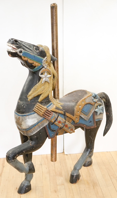 Standing Wood Carousel Horse