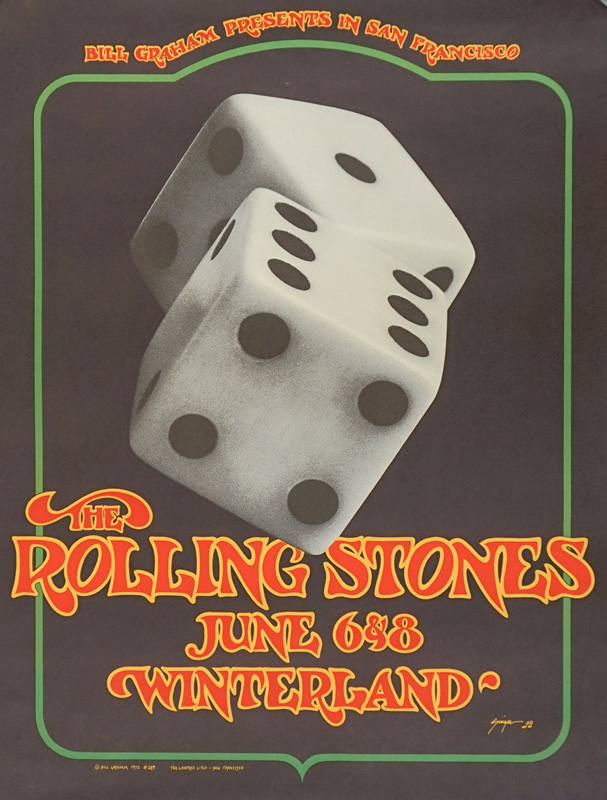 Rolling Stones Poster BG-289 2nd Printing