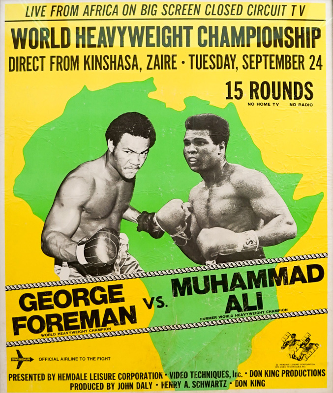 Ali-Foreman Large Closed Circuit Boxing Poster