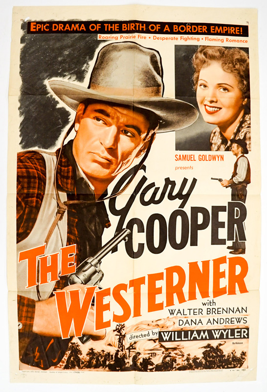 The Westerner One Sheet Movie Poster
