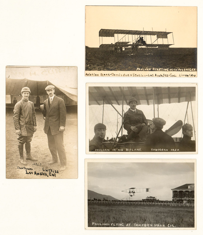 [Aviation] Louis Paulhan Real Photo Postcards (4)