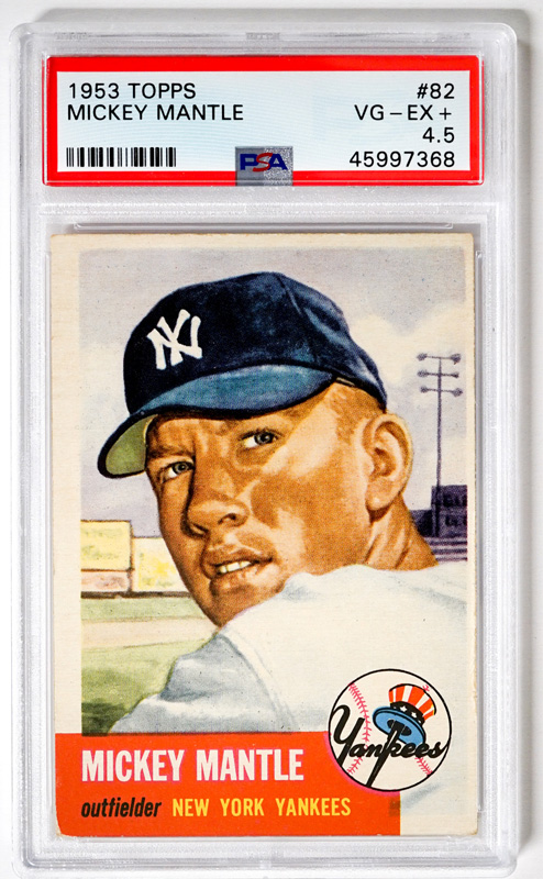 1953 Topps Mickey Mantle #82 PSA 4.5 VG-EX
