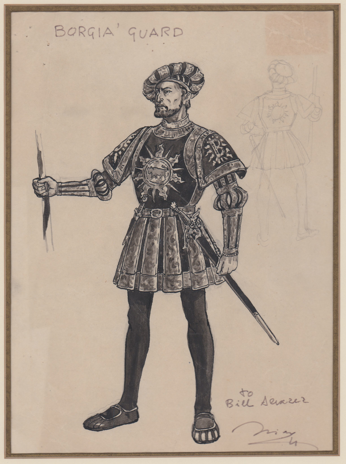 Original Costume Drawing [Prince of Foxes]