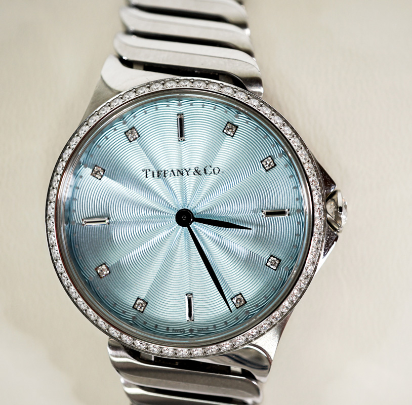 Tiffany Metro Stainless Steel and Diamond Watch