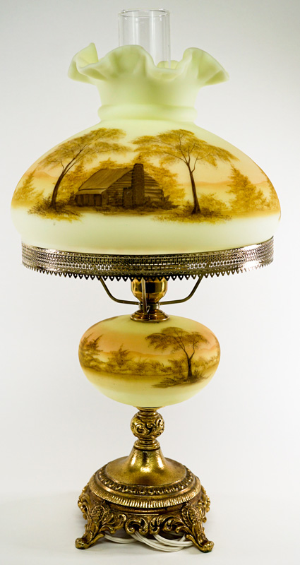 Michael Dickinson for Fenton Signed Lamp