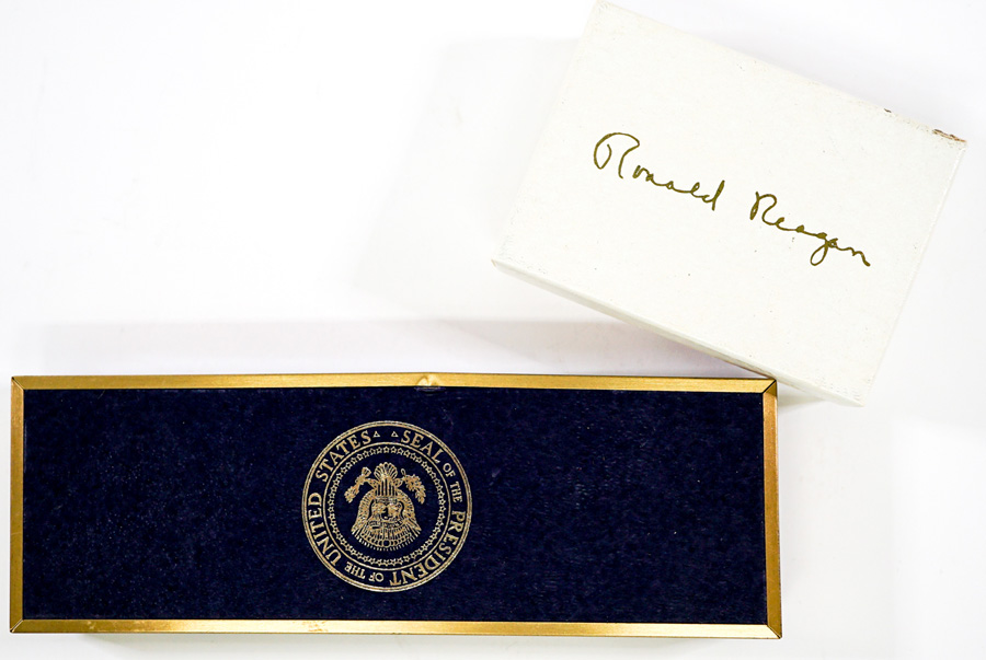 Ronald Reagan Keychain; Pen and Pencil Set