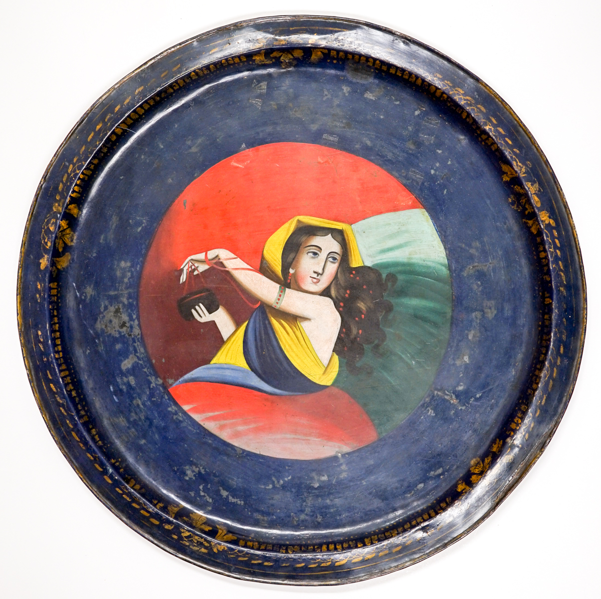 18th/19th Century Continental Hand Painted Tray