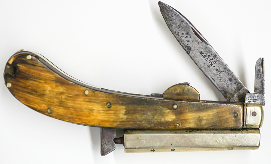 An Antique English Percussion Knife