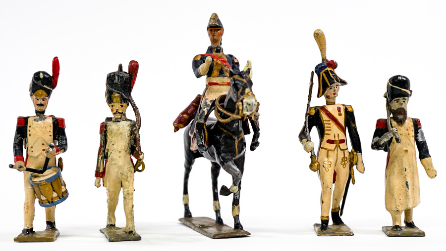 Napoleon, France Soldiers Lead Figures